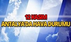12 Kasım 2018 Antalya hava durumu