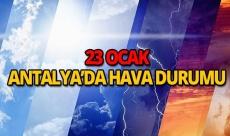 23 Ocak 2019 Antalya hava durumu