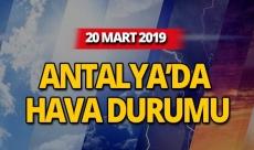 20 Mart 2019 Antalya hava durumu