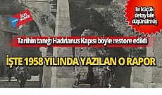 Tarihin tanığı Hadrianus Kapısı böyle restore edildi