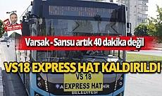 Express hattın kaldırılması Antalyalıların tepkisine neden oldu