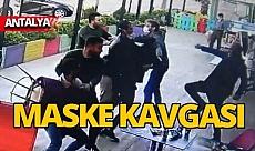 Antalya'da maske kavgası, sandalyeler havada uçuştu