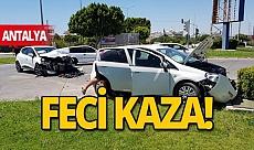 Son dakika Antalya haber: Antalya'da trafik kazası: 2 yaralı