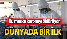 Koronavirüsü öldüren maske üretildi