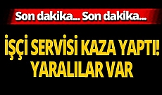 Son dakika... Sivas'ta işçileri taşıyan servis midibüsü kaza yaptı