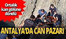 Antalya falezlerde ölüm kalım mücadelesi