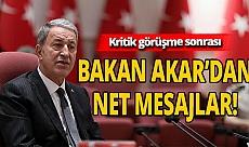 """Bakan Akar'dan Doğu Akdeniz açıklaması: """"Yanlış yapıyorlar"""""""