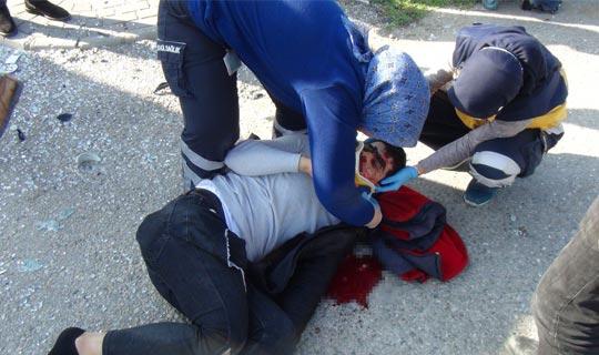 Antalya'da feci motosiklet kazası!