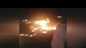 Alev alan umre otobüsünde yanarak can verdiler!