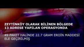 Antalya'da 104 polisle şafak vakti uyuşturucu operasyonu