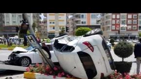 Antalya'da kaza anı kameralara yansıdı