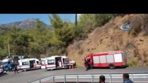 Antalya'da korkunç kaza : Çok sayıda yaralı var