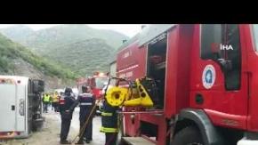 Antalya'da korkunç kaza: Ölü ve çok sayıda yaralı var!