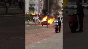 Antalya#039;da LPG#039;li otomobil küle döndü