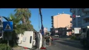 Antalya'da midibüs kazası