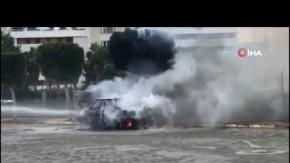 Antalya#039;da yanarak kül oldu!