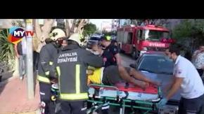 Antalya#039;daki kontrolsüz kavşakta kaza