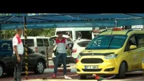 Antalya'daki taksi durağını görenler hayran kalıyor