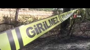 Antalya haber:  Yangın sonrası yanmış ceset bulundu