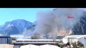 Antalya Serbest Bölge'de yangın çıktı