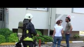 Antalya'da site içerisinde çıkan yangın korkuttu