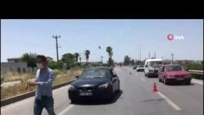 Antalya'da sürücüye havadan ceza yağdı