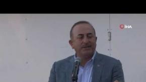 Bakan Çavuşoğlu Antalya' da Fırat'ın doğusuna değindi