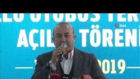 Bakan Çavuşoğlu Kaş#039;ta önemli açıklamalarda bulundu