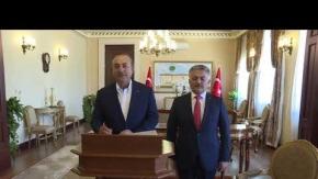 Bakan Mevlüt Çavuşoğlu, Antalya Valisi Ersin Yazıcı'yı ziyaret