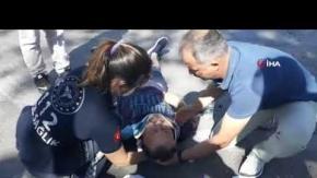 Çocuğunu sınava yetiştirmek isteyen baba kaza geçirdi