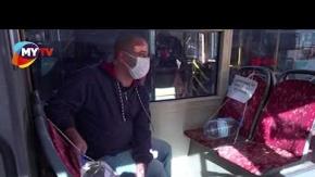 Çok şaşıracaksınız! Bakın şoför, otobüste pandemi için nasıl önlem aldı?