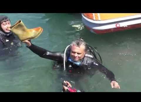 Antalya'da denizden çıkanlar herkesi şoke etti!