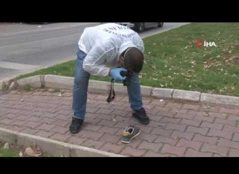 Antalya'da polisi gören hırsız ayakkabısını bırakıp kaçtı
