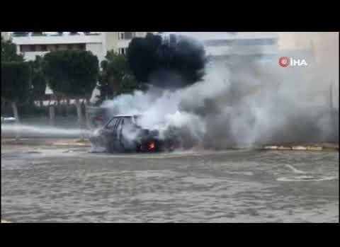 Antalya'da yanarak kül oldu!