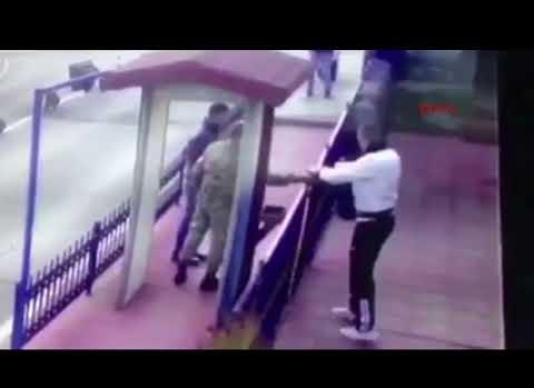 Asker kediye işkence yaptı