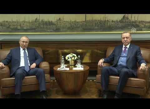 Cumhurbaşkanı Erdoğan ile Putin görüşmesi başladı