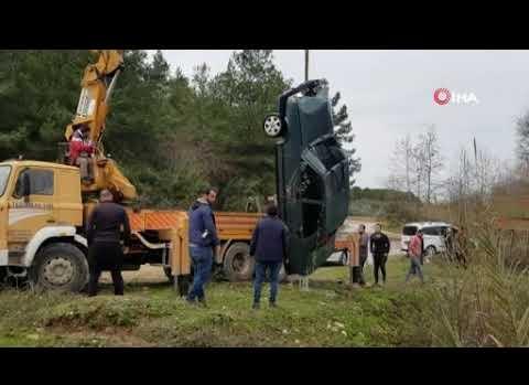 Naras Çayı'na uçan otomobil dalgıçlar tarafından bulundu!