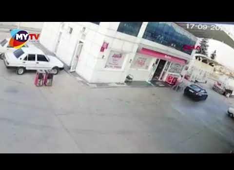 Tartıştığı istasyon görevlisine otomobiliyle çarptı
