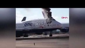 İspanya'da yolcu uçağının kabininde yangın çıktı