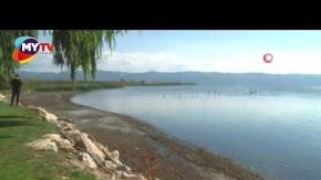 İznik Gölü 30 metre çekildi
