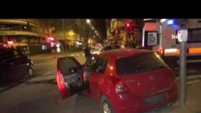 Manavgat'ta feci kaza : Araçlar kaldırıma çıktı!