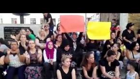Manavgat'ta kadınlardan eylem