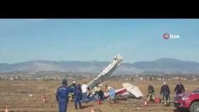 Manavgat'ta uçak düştü!