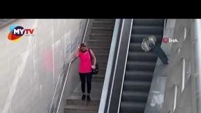 Metro istasyonunda korkunç anlar