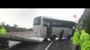 Minibüs yoldan çıktı! 13 yaralı