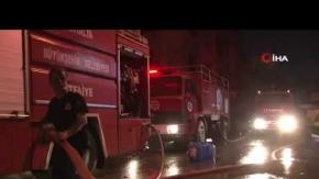 Sanayi sitesindeki yangın büyük panik yarattı