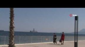 'Yavuz' Antalya açıklarında!