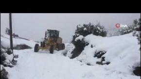 Yazın cazibe merkezi ilçede karla mücadele!