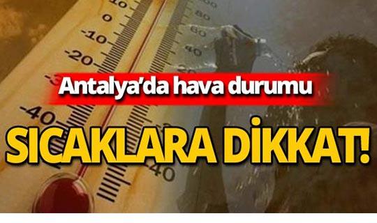 12 Ağustos 2019 Antalya hava durumu