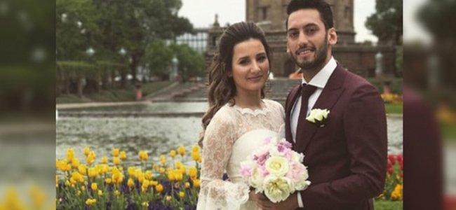 Milli futbolcu evlendi